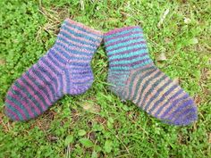 Little girls striped socks.