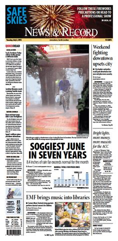 Front page July 2, 2013 www.news-record.com