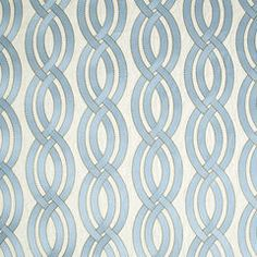 "Robert Allen, Twisty Lanes | Cove    SKU  244455 100% polyester (ground) 100% linen (embroidery) 10.5"" horizontal repeat 6.25"" vertical repeat Up the Roll GRADE 06"