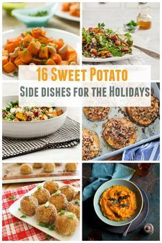 16 Sweet Potato Side Dishes For the Holidays - Most of these recipes are vegetarian, vegan and gluten free. primaverakitchen.com