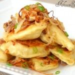 Crispy Fried Pierogies with Caramelized Onions