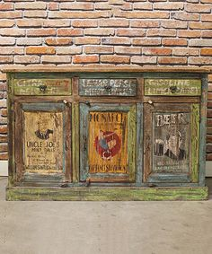 Loving this Hand-Painted Retro Buffet on #zulily! #zulilyfinds