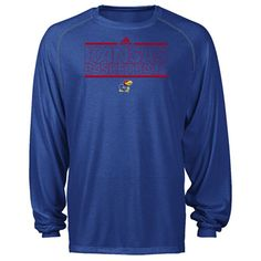 1ef77a96dc03 adidas Knicks On Court Heathered ClimaLITE L S Top  Blue  Kansas State  Wildcats