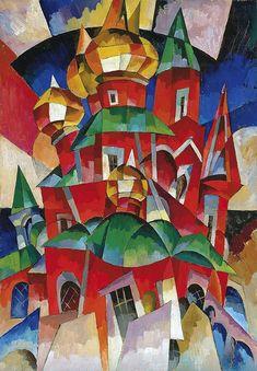 Aristarkh Lentulov, The Red Church on ArtStack #aristarkh-lentulov #art #abstract
