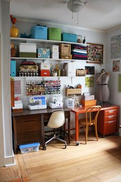 Would love to replace my tiny writing desk with a large table and lots of shelving along the wall!