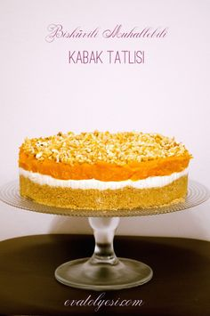 kabak tatlısı Cake Recipes, Dessert Recipes, Desserts, Salty Foods, Sweets Cake, Turkish Recipes, Sweet And Salty, Afternoon Tea, Vanilla Cake