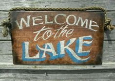 Welcome To The Lake Signs Decor Fair Welcome To Our Home On The Lake Personalized Sign Wood Sign Or Inspiration