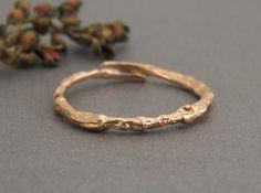 14k Rose gold Ring Rose gold wedding band 14k gold by SivanLotan