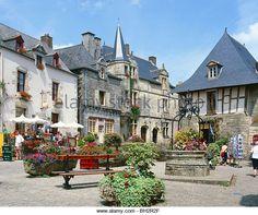 Rochefort-en-Terre, Brittany, France - Stock Image