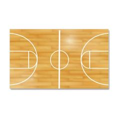 BasketBall Court Floor Decal