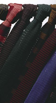 #knit ties knit ties knit ties! Check out my website for some fantastic pins…