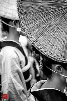 Japanese traditional straw hat for Awa-odori dance, Amigasa 編笠