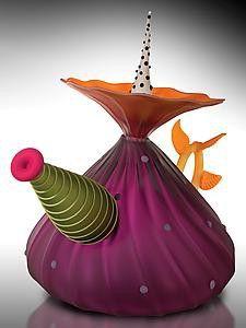 Glass Teapot  ~   Bob Kliss and Laurie Kliss ~ Artists