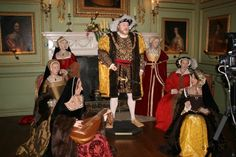 Henry VIII and his Six Wives...We saw something similar to the at Hever Castle, the childhood home of Anne Boleyn, Henry's 2nd wife.