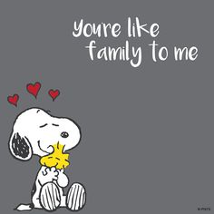 'You're like Family to me', Snoopy and Woodstock❤️