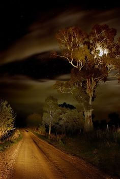 Headlight Moonlight Starlight, Broken Creek, Victoria, Australia by Andrew C Wallace - Getting Back To Nature Beautiful Moon, Beautiful World, Beautiful Places, Love Images, Beautiful Pictures, Foto Art, Jolie Photo, Night Skies, Beautiful Landscapes