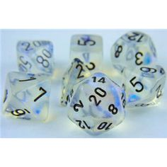 RPG Dice Set (Borealis Haunted Aquerple) role playing game dice