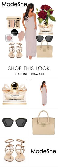 """#ModeShe"" by deja-leko ❤ liked on Polyvore featuring Salvatore Ferragamo, Prada, Furla and Valentino"