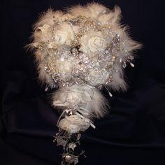Diamante and crystal bridal bouquet - Folksy