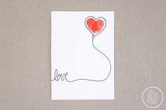 DIY Fingerprint Valentines, via www.thegoldjellybean.com