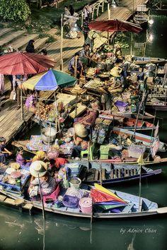 Khlong Hae Floating Market, Hat Yai, Thailand Thailand Vacation, Thailand Honeymoon, Visit Thailand, Vacation Travel, Thailand Travel, Hat Yai, Asian Market, Buddhist Temple, Like A Local