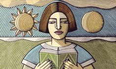 The Guardian - Christmas Gifts 2012 -Best Poetry books. Illustration by Clifford Harper/agraphia.co.uk