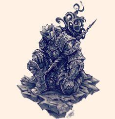 John Devlin Illustration — Champion Gundyr commission #darksouls #darksouls3...