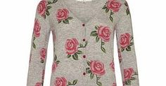 Uttam Boutique Grey cotton rose print cardigan This soft cotton cardigan is designed with a bold rose print and gives everyday outfits a unique, stylish touch.Fabric: 100% cottonCare Advice: machine wash 30Fit: true to sizeColour: grey http://www.comparestoreprices.co.uk/clothing/uttam-boutique-grey-cotton-rose-print-cardigan.asp