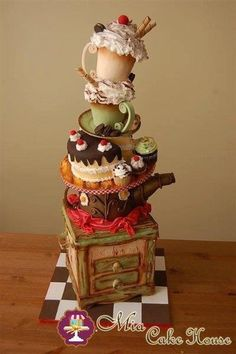 Tea party cake...WOW!!! I don't think I will ever be this talented!!!