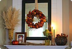 #fall mantel decorating