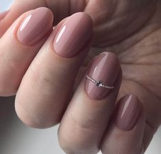 Nice 42 Popular Nail Art Designs Ideas With Stones For The Perfect Manicure. Neutral Nail Designs, Best Nail Art Designs, Toe Nail Designs, Nails Design, Beige Nails, Neutral Nails, Nude Nails, Chic Nails, Trendy Nails