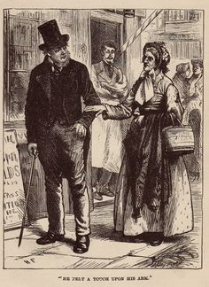 "Original Antique Engraving from 1800's. Dickens story, ""Hard Times for These Times"". Illustrated by Harry French"