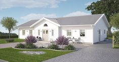 Bygga hus och villa   Hustillverkare   A-hus New England Hus, Architectural House Plans, Modern Farmhouse Exterior, Home Fashion, Country Style, Bungalow, Tiny House, Building A House, New Homes