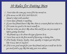 10 rules for dating menDating Services Guidelines