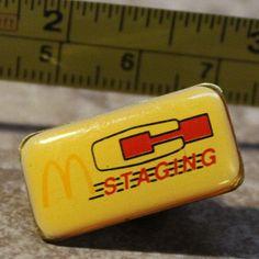 McDonalds C Staging Employee Collectible Pinback Pin Button #McDonalds