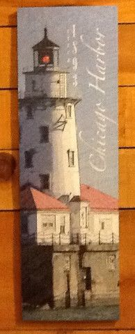 Chicago Harbor Lighthouse Sign- Medium – Red Barn Company Store