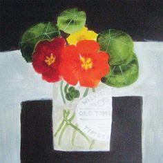Tiptree Nasturtiums by Jill Leman, The Royal Watercolour Society RWS – Dry Red Press