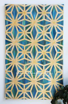 diy geometric painting with painters tape - Paint Tape Design Ideas