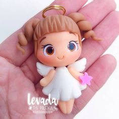 Clay Art Projects, Clay Crafts, Polymer Clay Dolls, Polymer Clay Charms, First Communion Decorations, Christmas Angel Ornaments, Bookmark Craft, Cute Clay, Clay Design