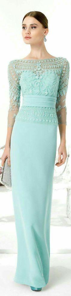 Aire Barcelona 2016 women fashion outfit clothing style apparel closet ideas Mother of the Bride Dress. Trendy Dresses, Elegant Dresses, Blue Dresses, Fashion Dresses, Formal Dresses, Modest Fashion, Prom Dresses, Lace Dress, Dress Up
