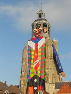Bergen op Zoom (Noord-Brabant) - Peperbus Tower during carnival / Peperbus Turm während des Karnavals / Tour de Peperbus pendant le carnaval