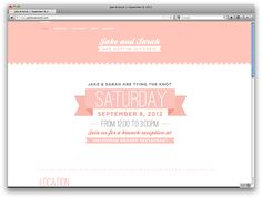 wedding website / jakelovessarah.com Web Design, Wedding Website, Tie The Knots, Chic Wedding, Wedding Designs, Reception, Ribbon, Wedding Inspiration, Invitations