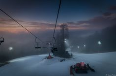 Sunset on Zagreb Sljeme -