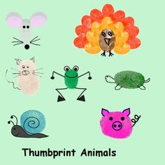 Thumbprint Characters for Greeting Cards and Scrapbooking