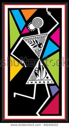 Find Indian Tribal Paintings Warli Painting stock images in HD and millions of other royalty-free stock photos, illustrations and vectors in the Shutterstock collection. Thousands of new, high-quality pictures added every day. Mandala Art, Worli Painting, Fabric Painting, Durga Painting, Madhubani Art, Madhubani Painting, Arte Tribal, Tribal Art, African Art Paintings