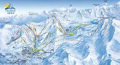 Plan des pistes d'Orcières 1850 (France) #ski #map