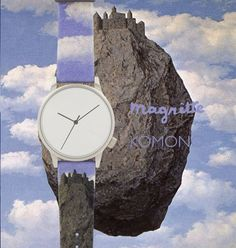 Wear #Magritte's #TheCastleofThePyrenees on your wrist and homage to the #surrealism movement is all in a flick of the wrist, brought to you by @Komono. #komono #watches #time #unique #style #painting #sportique #sportiquesf