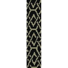 Free Loom Bead Patterns | CHAIN - LOOM beading pattern for cuff bracelet (buy any 2 patterns ...