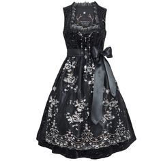 Midi Dirndl Caroline in black Tramontana: Amazon.de: Clothing