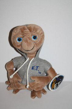 "GUND Universal Studios ET 9"" Gray HOODIE Sweatshirt Stuffed Plush 1998 Soft Toy #GUND"